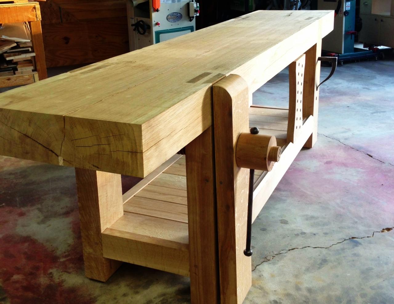 French Oak Roubo Workbench Holdfast Woodshop